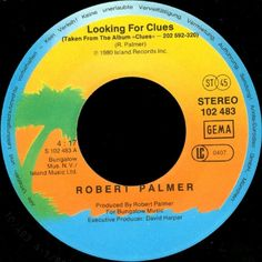 """7"""" 45RPM Looking For Clues/What Do You Care by Robert Palmer from Island Records"""