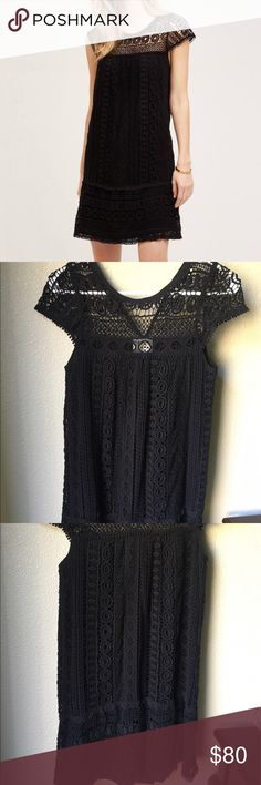 Anthropologie Maeve Crochet Tunic, xxsp Anthropologie Maeve Crochet Tunic, black in excellent used condition. Size XXSP. Bought new, worn once! No loose threads or pulls that I can see. Price is firm. Thank you for looking! Anthropologie Dresses