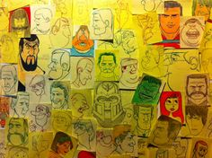 Post-it faces by Alexandre Augusto