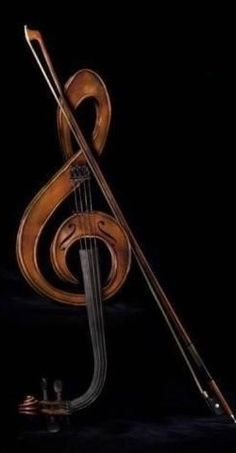 amazing sculpture: violin in musical note form! Sound Of Music, Music Love, Music Is Life, Pop Music, Cello, Violin Music, Pop Rock, Music Decor, Sculpture