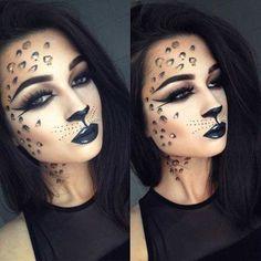 Cheetah Cat Easy Halloween Makeup Look