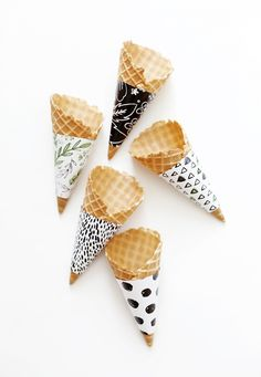 DIY Ice Cream Cone Wrappers @themerrythought #MichaelsMakers