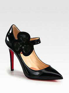 Christian Louboutin Pensee Patent Leather & Suede Pumps