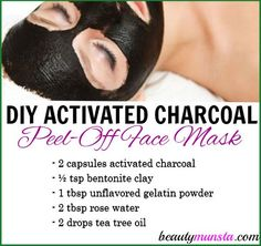 De-gunk your pores using this DIY activated charcoal peel-off mask! It works wonders in removing all kinds of impurities from your facial pores! This DIY activated charcoal peel-off mask will: Don't Miss: Our Ebooks My Favorite Tried & Tested Shea Butter Easy Face Masks, Homemade Face Masks, Diy Face Mask, Homemade Peel Off Mask, Natural Beauty Tips, Natural Skin Care, Masque Peel Off, Charcoal Peel Off Mask, Activated Charcoal Mask