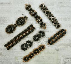 Linda's Crafty Inspirations: Playing with my beads...Black Bracelet Samples