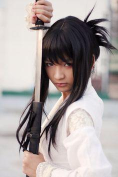 katana female spirit of the samurai Samurai Girl, Samurai Poses, Female Samurai, Samurai Warrior, Ninja Girl, Sword Photography, Samurai Photography, Sword Poses, Katana Girl