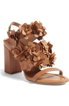 6478ce2cc6b Tory Burch Blossom Sandal (Women) available at  Nordstrom Tan Block Heel  Sandals