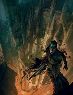 Vampire: France by Night - Cover art by Marc Simonetti for the upcoming French RPG add on for Vampire the Masquerade
