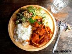 【簡単!!カフェごはん】鶏肉の洋風煮込みでワンプレート 山本ゆりオフィシャルブログ「含み笑いのカフェごはん『syunkon』」Powered by Ameba Asian Recipes, Gourmet Recipes, Cooking Recipes, Healthy Recipes, Gourmet Foods, Cafe Food, Food Menu, Food Design, Design Design