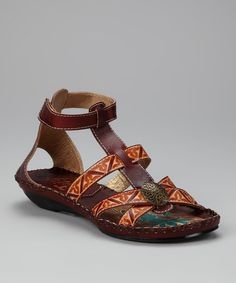 Take a look at this Dark Brown Indian Ocean Sandal by Corky's Footwear on #zulily today!