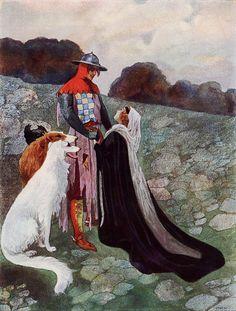 Illustration by Czech painter Artuš Scheiner for a Czech national fairy tale,1913