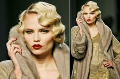 Vintage short hair. -Old Hollywood Glamour finger wave