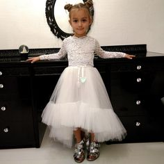Reliable Flower Girl Dresses Princess Prints A Christmas Holiday Performance Dress Girl Christmas Party Banquet Dress Weddings & Events Superior Materials