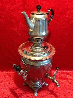 Metallobjekte Honig Alter Messing Samovar