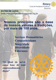 """Conheça Rotary, conheça as ações de Rotary e torne-se rotariano.  """"Um mundo melhor é possível quando pessoas se unem para fazer o bem"""". #Rotary #Nascente #DQA #sejarotariano"""