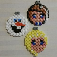 Frozen Christmas baubles hama beads by dinandehn