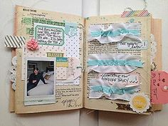 happy little moments altered book | More Happy Little Moments - Pages 3 & 4 by ... | Altered Books