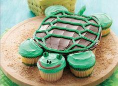 pull apart turtle cupcakes animal shaped foods more cupcakes cake kids ...