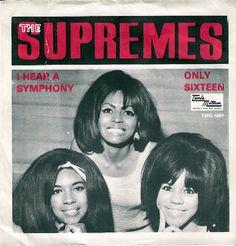 "The Supremes ""I Hear A Symphony"" 1965 45 rpm Record Sleeve (UK)"