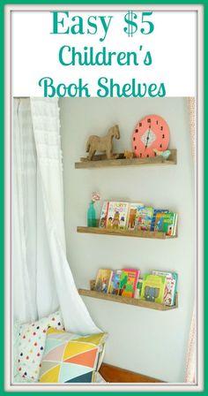 Easy DIY Book Shelves that Cost Less than $5 a Shelf!