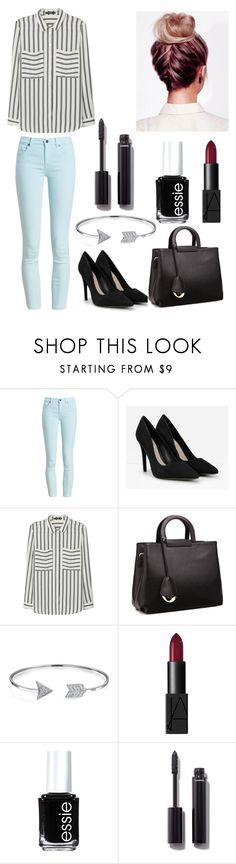 """""""Striped shirt"""" by amela-meredith ❤ liked on Polyvore featuring Barbour, CHARLES & KEITH, MANGO, Relaxfeel, Bling Jewelry, NARS Cosmetics, Essie and Chanel"""