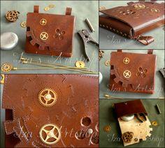 Steampunk Leather Belt Bag II by izasartshop.deviantart.com on @DeviantArt