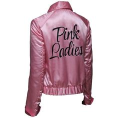 Pink Ladies Grease Live Satin Womens Jacket at Amazon Women's Coats... ❤ liked on Polyvore featuring outerwear and pink