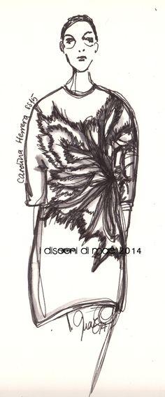 Carolina Herrera SS15 #rtw #nyfw #catwalk #illustration