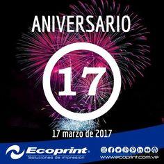 Hoy estamos de ANIVERSARIO!!! 🎉🍸💥✔ Ya son 17 años aprendiendo, creciendo y dando el mejor servicio a nuestros clientes 👧👨👴. Somos orgullosamente una empresa 100% #venezolana y contamos con un extraordinario equipo de trabajo #margariteño.  GRACIAS POR CONFIAR EN NOSOTROS 💛💙💖