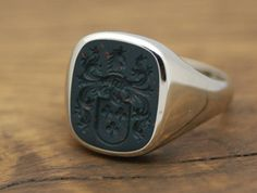 CUSTOM CUSHION SIGNET RING, STONE 15x13 MM  Custom Cushion Signet Ring with hand engraved Semi Precious Gem Stone, size 15x13mm. The stone can be Mens Gold Rings, Gold And Silver Rings, Rings For Men, Custom Signet Ring, Male Jewelry, Ring Bear, Man Ring, Custom Cushions, Family Jewels