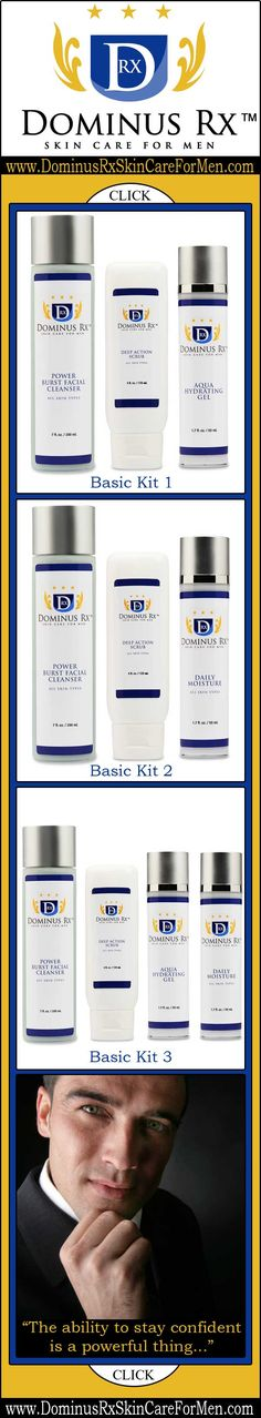 Skincare for Men - Mens Skincare - Dominus Rx ♦ Skin care products for men that are formulated with the highest quality, non-toxic ingredients and the latest technology in anti-aging solutions available. http://www.dominusrxskincareformen.com/