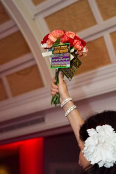 Toss Bouquet with Lottery Tickets