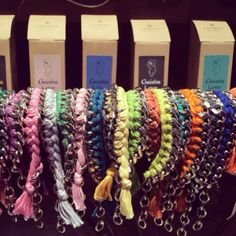FIRST bracelet collection with cotton spun. Choose your fave color...if you can
