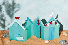 PaperCrafter Magazine - Browse of free paper crafting projects Beach Huts, Vintage Nautical, Making Cards, Summer Crafts, Folded Cards, Free Paper, Strand, Seaside, Card Ideas