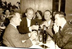 Boys Night Out at Abe Weinsteins Colony Club in Downtown Dallas. November 1956