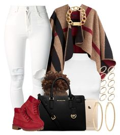 """""""Hope everyone's having a Merry Christmas """" by livelifefreelyy ❤ liked on Polyvore featuring Burberry, ASOS, (+) PEOPLE, WearAll, MICHAEL Michael Kors, Timberland, Michael Kors, Roberta Chiarella, women's clothing and women"""