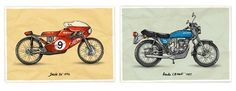 Anton Gorbunov's Motorcycle Illustrations -