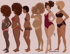 black women with natural curves Body Love, Loving Your Body, Perfect Body, Art Black Love, Black Women Art, Skottie Young, Robert Mcginnis, Art Pulp Fiction, Pulp Art