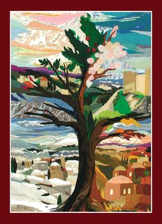 The tree of seasons Tapestry by Bracha Lavee