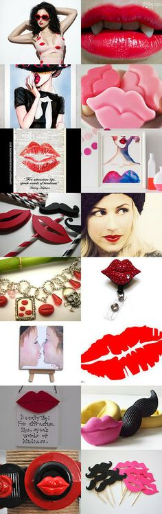 Hot lips:) by P Petrocy on Etsy--Pinned with TreasuryPin.com