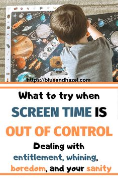 Screen time limits: What to try to decrease your kid's screen time entitlement, tantrums, boredom, and how to get kids to use their imagination again so they will stop whining for T. Tips for doing a screen time purge and finding better limits. Parenting Toddlers, Parenting Advice, Mom Advice, Toddler Activities, Learning Activities, Toddler Chores, Toddler Boys, Free Activities, Screen Time For Kids