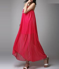 2974ac82c7 Pleated High Low Red Tube Dress