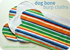 Dog Bone Burp Clothes -- a fun and easy boy(or girl!) sewing project.