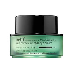 Peat Miracle Revital Eye Cream - belif | Sephora $58 ... Received sample ... Little goes a long way, good consistency, not greasy