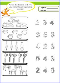 Counting And Matching Worksheet