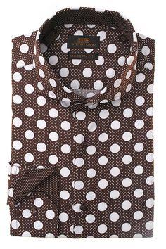 Steven Land  Dress Modern Shirts  DM1245   Brown $69 #StevenLand #Standout