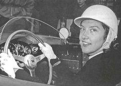 Girls Drive Fast Too - Madame Gilberte Thirion on 1956 Ferrari 500TR.