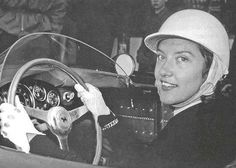 Girls Drive Fast Too - Madame Gilberte Thirion on 1956 Ferrari 500TR.