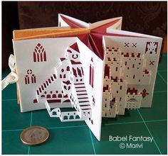 ★ Origamic Architecture Instructions & Free Kirigami Templates ☠Kirigami Templates, Origami And Kirigami, Origami Paper, Box Templates, Paper Art, Paper Crafts, Foam Crafts, Paper Toys, Pop Up Art