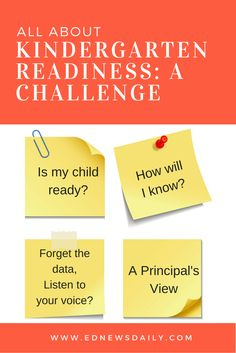 Kindergarten Readiness: A Challenge....Great article written by a long-time former principal.
